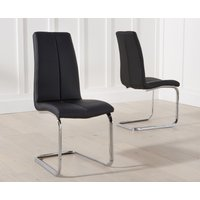 Product photograph showing Tarin Black Faux Leather Dining Chairs