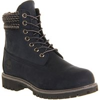 Timberland 6 Inch Double Collar Boot NAVY NUBUCK PLAID