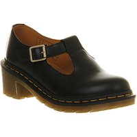 shop for Dr. Martens Parade Sophia T-bar BLACK LEATHER at Shopo