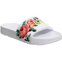 shop for Fila Drifter Slide WHITE EMBROIDERY at Shopo