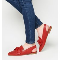 Office Femme Bow Slingback RED LEATHER