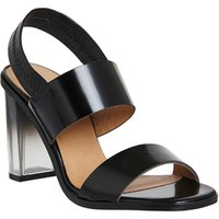 Office Amelie Perspex Heel Sandal BLACK BOX
