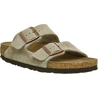 Birkenstock Arizona Two Strap Suede Leather Taupe