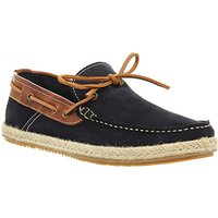 Ask the Missus Bravo Boat Shoe NAVY WASHED SUEDE TAN LEATHER