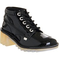shop for Kickers Kopey Hi BLACK PATENT LEATHER at Shopo