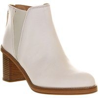 Poste Mistress Charlotte Chelsea boots OFF WHITE LEATHER