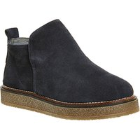 shop for Gaimo for OFFICE Ana Shearling Shoe NAVY SUEDE at Shopo
