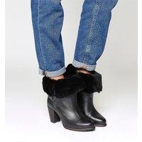 shop for UGG Jayne Heeled Boot BLACK LEATHER at Shopo