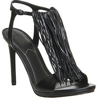 shop for Kendall - Kylie Aries Tassel Heel BLACK LEATHER at Shopo