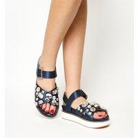 shop for Office Manic Gem Trim Sandal NAVY SATIN at Shopo