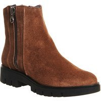shop for Gaimo for OFFICE Rosa Ankle Boot COGNAC SUEDE at Shopo