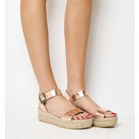 shop for Gaimo for OFFICE Jyle Flatform Sandals ROSE GOLD LEATHER at Shopo