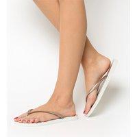 shop for Havaianas Slim Organic Flip Flop WHITE ROSE GOLD at Shopo
