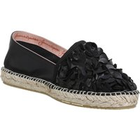 shop for Gaimo for OFFICE Alp Espadrilles BLACK FLORAL LEATHER at Shopo