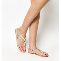 Office Siester- Toe Post Sandal GOLD LEATHER