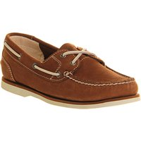 shop for Timberland Ek Classic Unlined Boat Shoe MEDIUM BROWN at Shopo