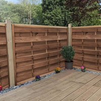 1.2m x 1.8m Horizontal Weave Pressure Treated Fence Panel