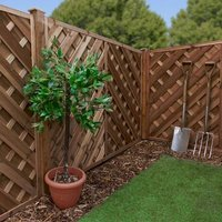 1.2m x 1.8m Chevron Weave Pressure Treated Fence Panel