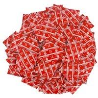 "Kondome ""London Rot"", feucht mit Erdbeeren-Aroma"