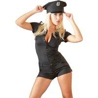 Overall mit Druckknöpfen, im Polizistinnen-Look