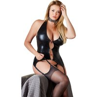 Strapshemd plus String ouvert im Wetlook 65H Cup