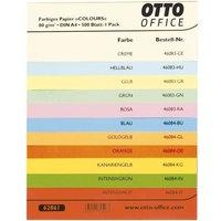 Farbfächer für farbiges Papier (Muster)