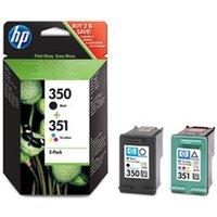 HP 350 + 351 Inkcartridge SD412EE Zwart + 3-Kleuren Multipack