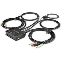 StarTech.com 2-poorts HDMI KVM switch met geïntegreerde kabels USB 4K 60Hz