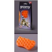 Groomy Reinigungsbürste für Hunde und Katzen orange