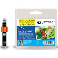 Image of Epson T0712 Cyan Remanufactured Ink Cartridge by JetTec E71C
