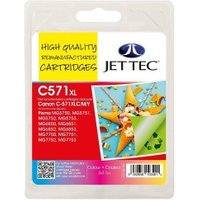 Image of Canon CLI571 XL CMY Multipack Remanufactured Ink Cartridge by JetTec CL571 CMY