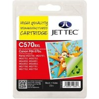 Canon PGI-570XL Black Remanufactured Ink Cartridge by JetTec CP570B