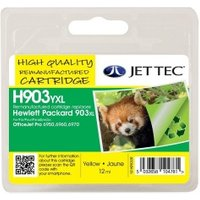 Image of HP903XL Yellow Remanufactured Ink Cartridge by JetTec H903YXL