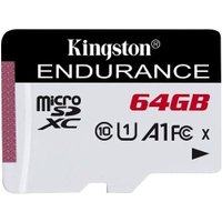 Kingston High Endurance MicroSDXC Card 95MBs Class 10 64GB