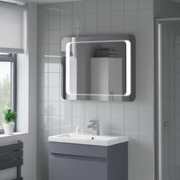 Artis Levo LED Bathroom Mirror with Demister Pad 600 x 800mm - Mains Power