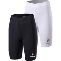 Gladiator Sports Womens Compression Shorts  Black  amp  White