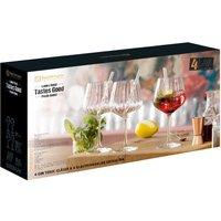 Nachtmann Tastes Good Gin & Tonic Gläser mit Trinkhalmen und Reinigungsbürste Set 9-tlg.