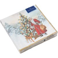 Villeroy & Boch Winter Specials Serviette Cocktail 'Nikolaus mit Tannenbaum' 20 Stück 25x25 cm
