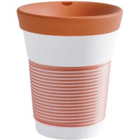 Kahla cupit - Magic Grip coral sunset To Go Becher 0,35 L mit Trinkdeckel 10x2 cm