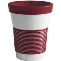 Kahla cupit - Magic Grip dark cherry To Go Becher 0,35 L mit Trinkdeckel 10x2 cm