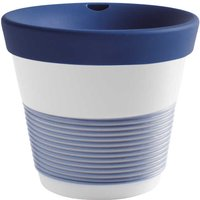 Kahla cupit - Magic Grip deep sea blue To Go Becher 0,23 L mit Trinkdeckel 10x2 cm