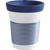Kahla cupit - Magic Grip deep sea blue To Go Becher 0,35 L mit Trinkdeckel 10x2 cm