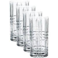 Nachtmann Square Longdrink Glas Set 4-tlg. 445 ml / h: 15,1 cm / d: 7,7 cm