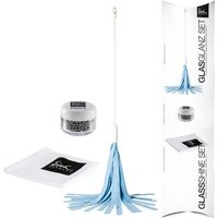 Eisch Dekantier Accessoires Glas-Glanz-Set 3-tlg. inklusive Dekantertrockner,Reinigungsperlen und Gläserpoliertuch