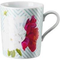Arzberg Tric Vivid Bloom - Celadon floral Becher mit Henkel 0,32 L