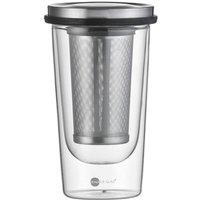 Jenaer Glas Food & Drinks - Hot n cool Tee-Set mit Becher 0,35 L Siebablage und Deckel 3-tlg.