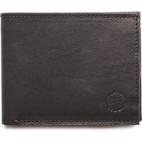 Logo Leather Bi-Fold Wallet (Black, One Size, Small Leather Goods)