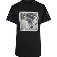 Graphic Print T-Shirt (Black, XL, Printed)