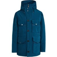 Button Up Padded Jacket (Blue, S, Jackets)