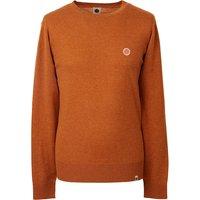 Crew Neck Knitted Jumper (Orange, S, Crew Neck)